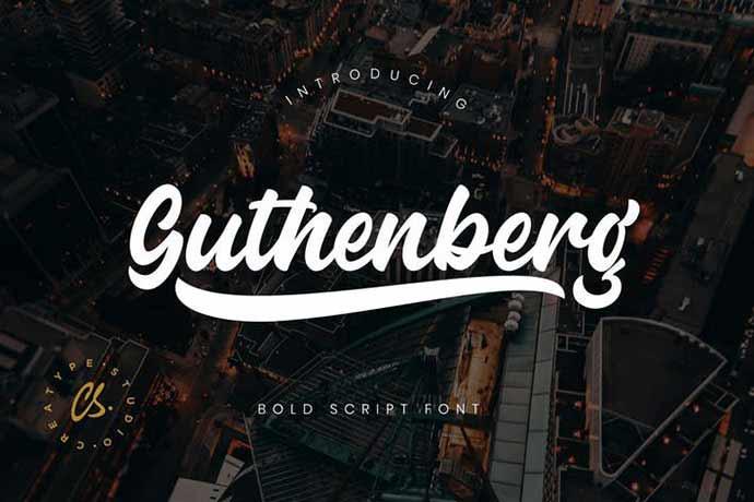 Guthenberg Bold Script