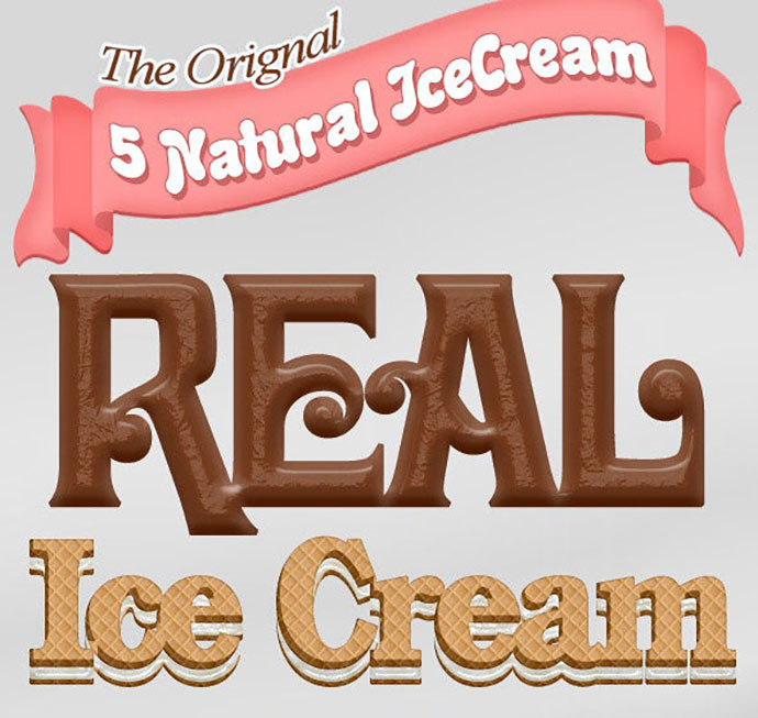 5 Real IceCream Text Styles