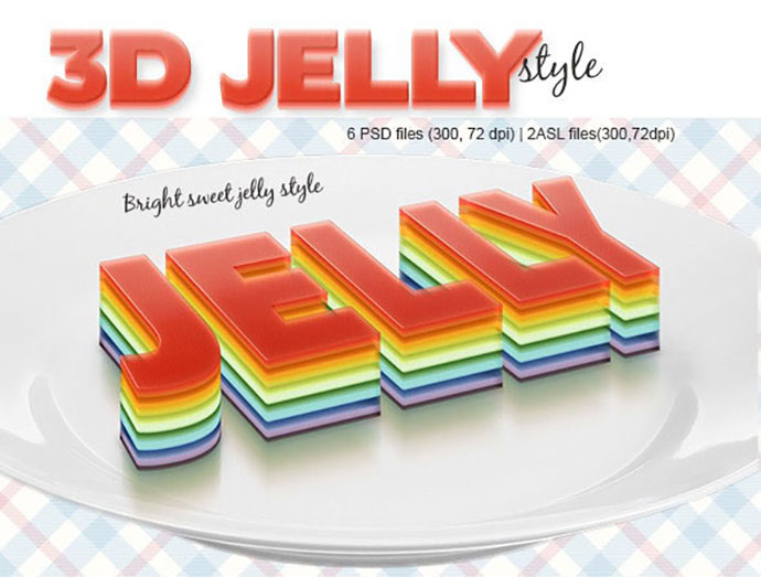 3D Jelly Style