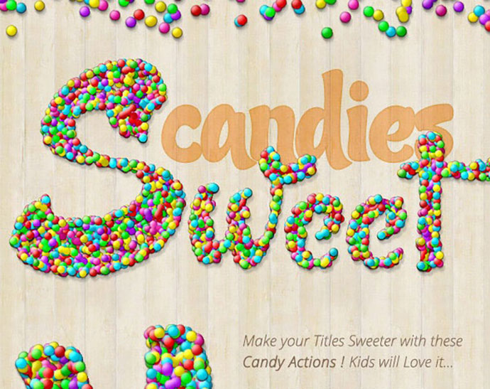 Candy Text Creator - Photoshop Actions