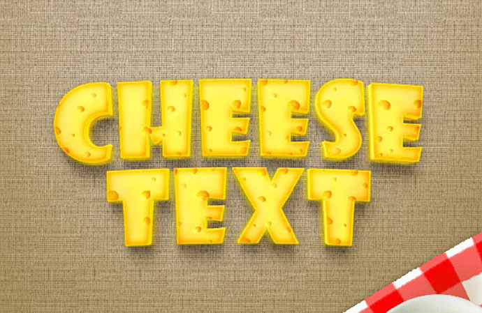 Realistic Cheese Text Effect