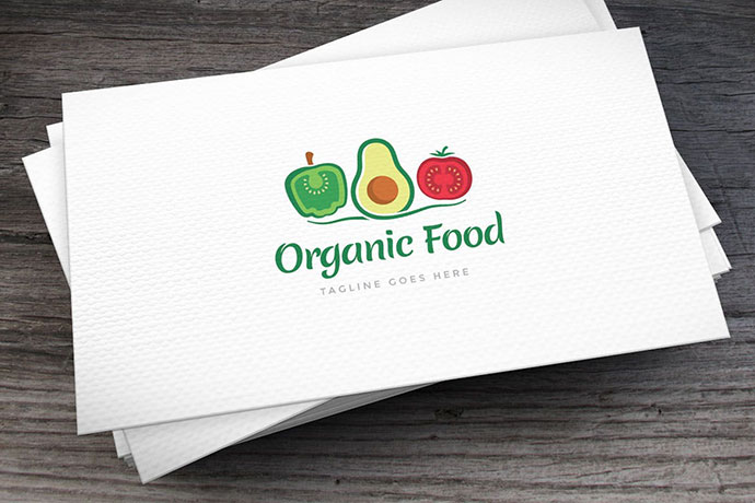 Organic Food Logo Template