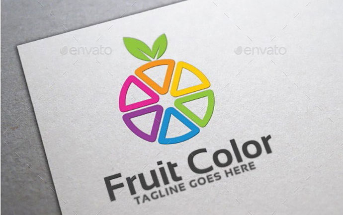 Fruit Color Logo Template