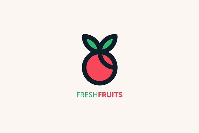 Fresh Fruits Logo Template