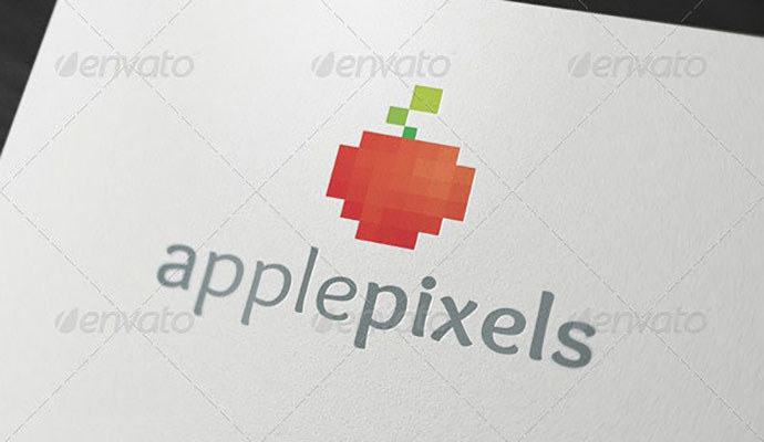 Apple Pixels - Logo Template