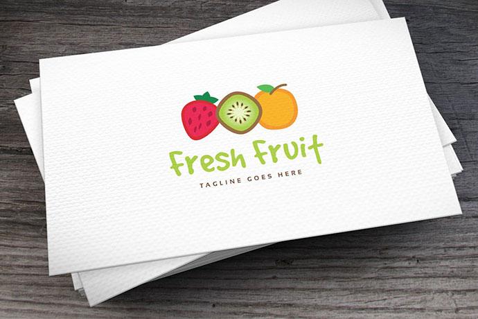 Fresh Fruit Logo Template