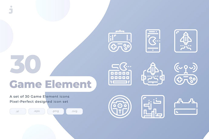 30 Game Element Icons