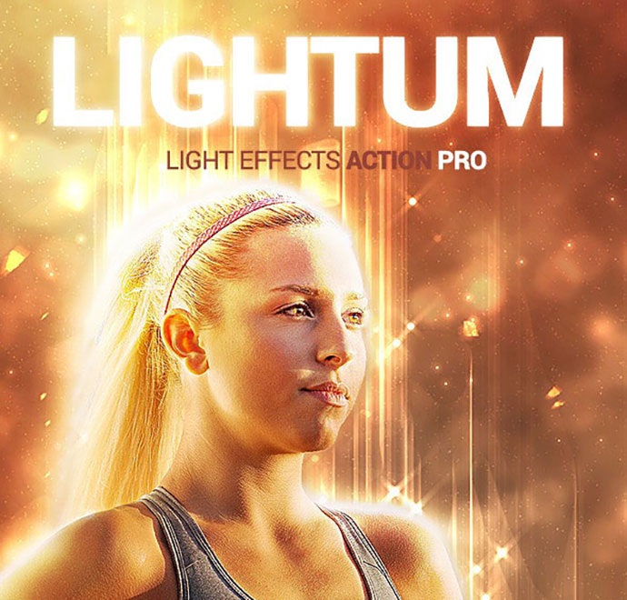 Lightum - Light Effects Photoshop Action
