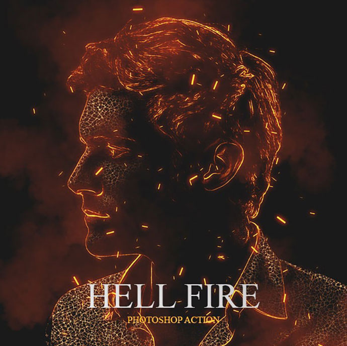 Hell Fire Photoshop Action