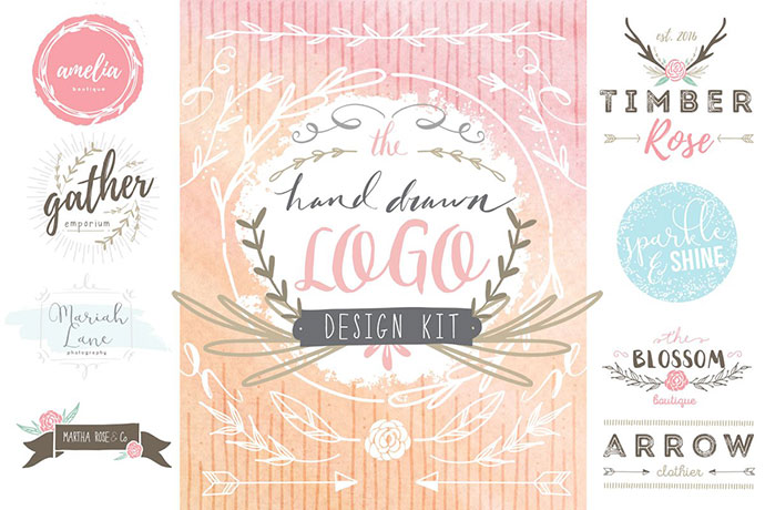 Hand Drawn Logo Design Kit