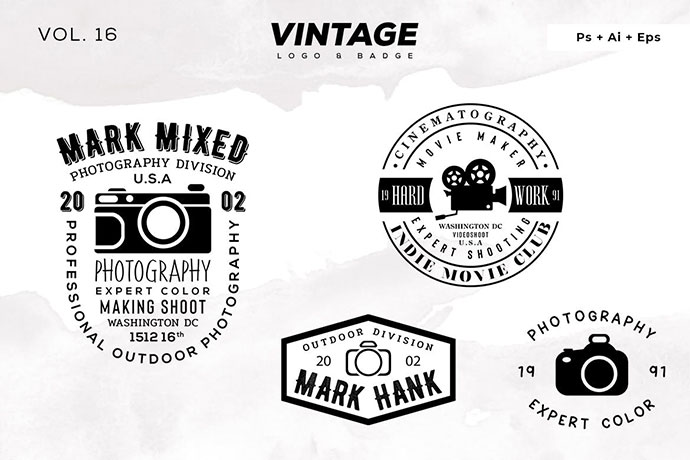 Vintage Logo & Badge Vol. 16