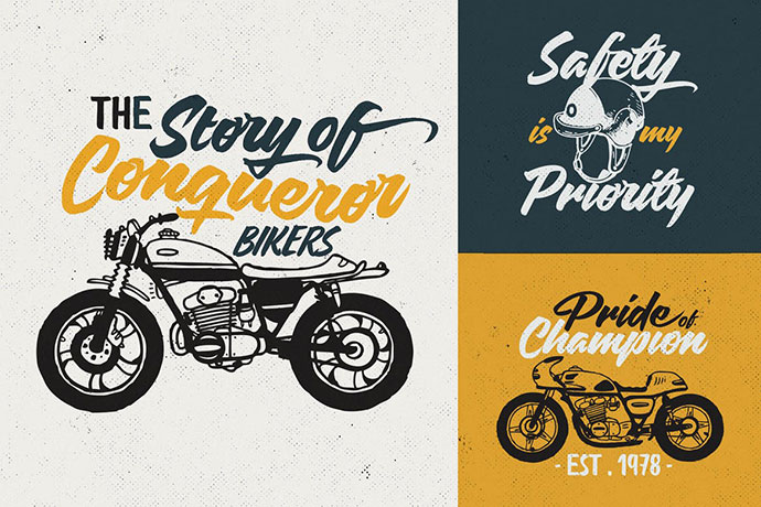 Custom Motorcycle Culture Logo