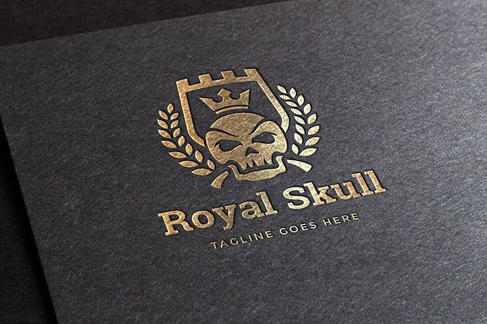 Royal Skull Logo Template