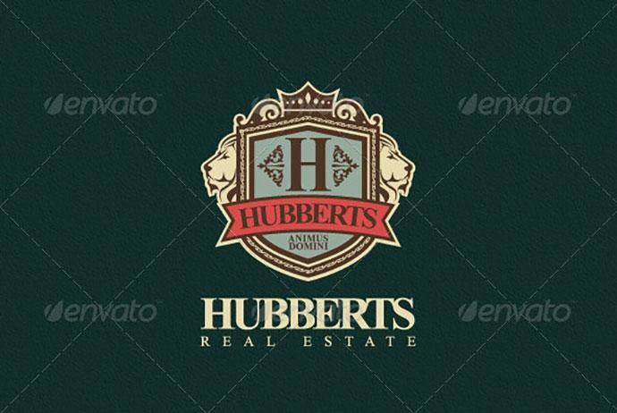 Hubberts Royal Crest Logo