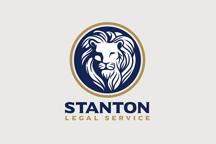 Heraldic Royal Lion Emblem Logo