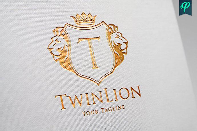 TwinLion - Heraldry Logo Template