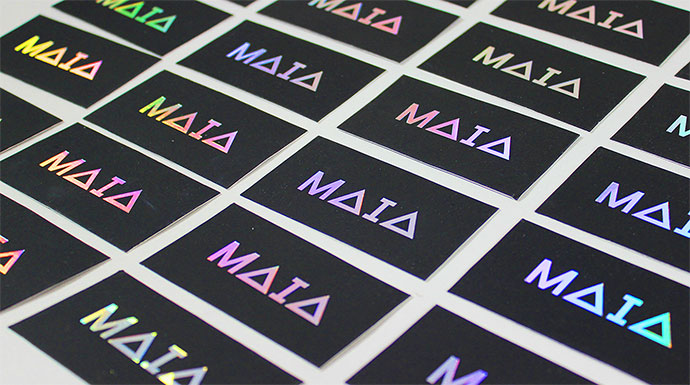 Foil-stamped Business Cards