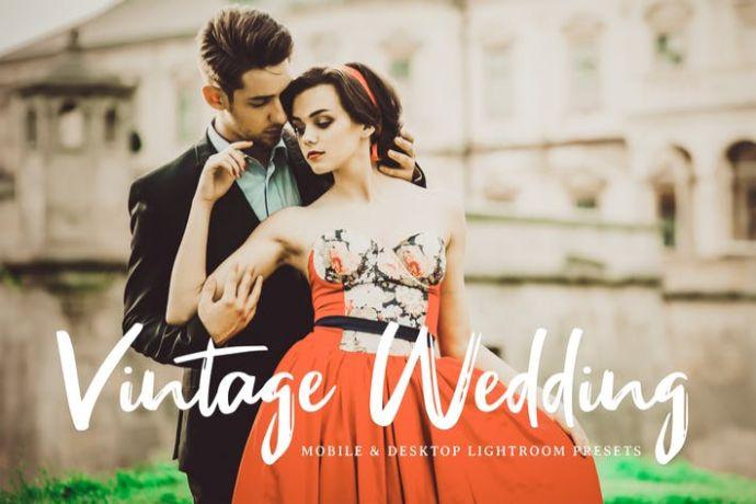 Vintage Wedding Mobile & Desktop Lightroom Presets