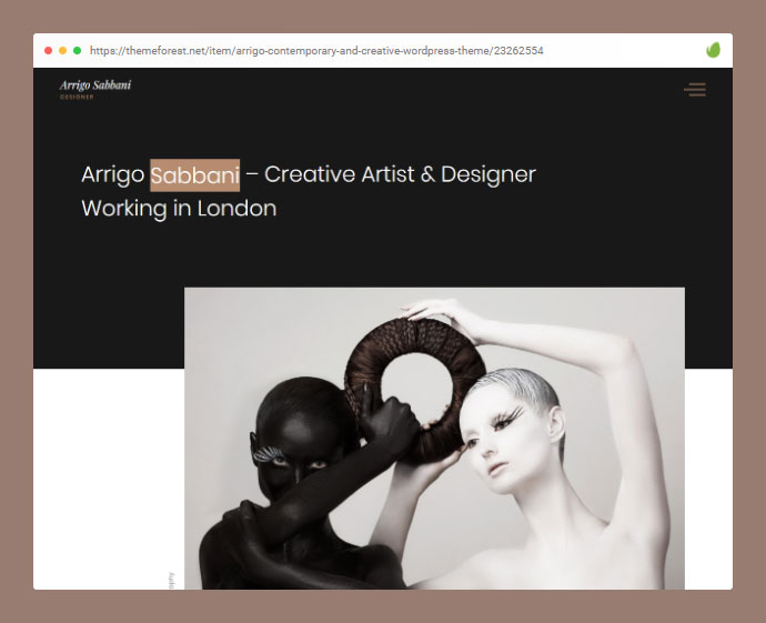 Arrigo – Contemporary and Creative Portfolio WordPress Theme