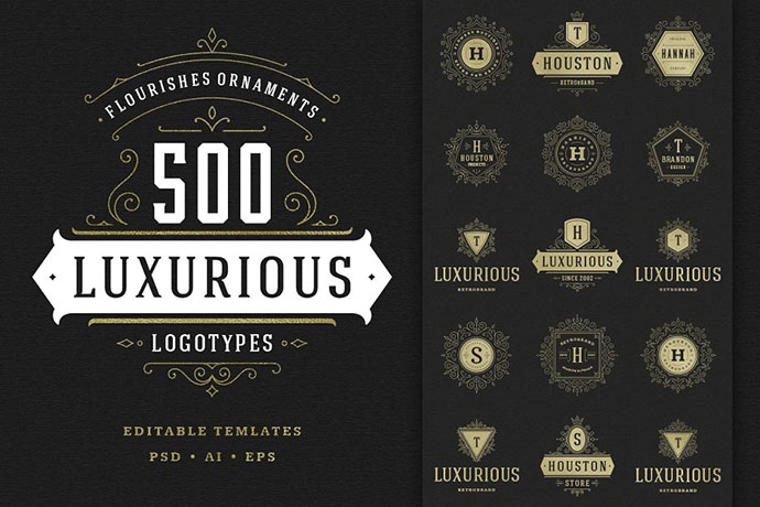 500 ornaments logos & monograms