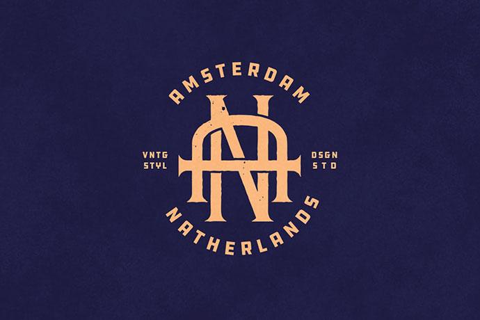 An Vintage Monogram Logo