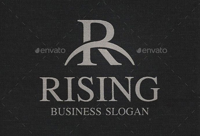 R Letter Monogram Logo - Rising
