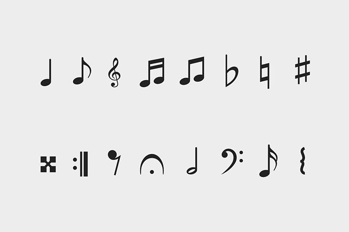 16 Music Notation Icons