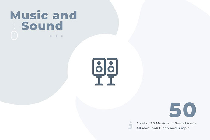 50 Music And Sound Icon Set