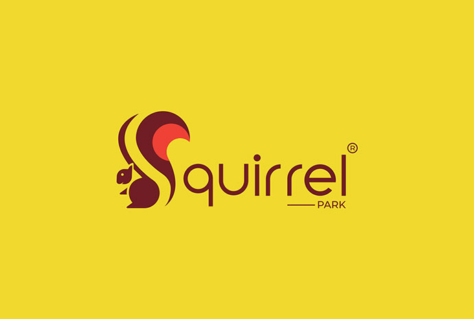 Squirrel Logo Negative Space