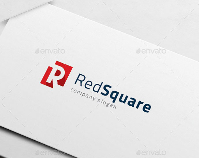 R Logo - Red Square - Real Estate