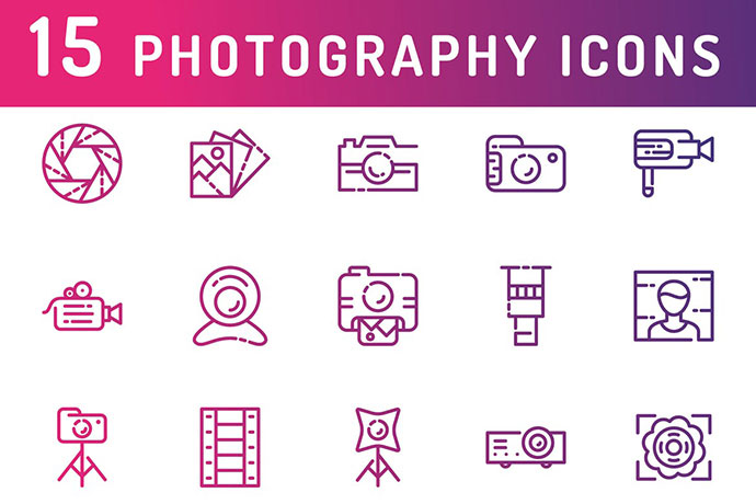 Photography And Media Icons