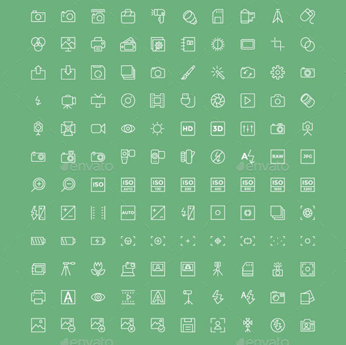 100+ Photography Vector Icons