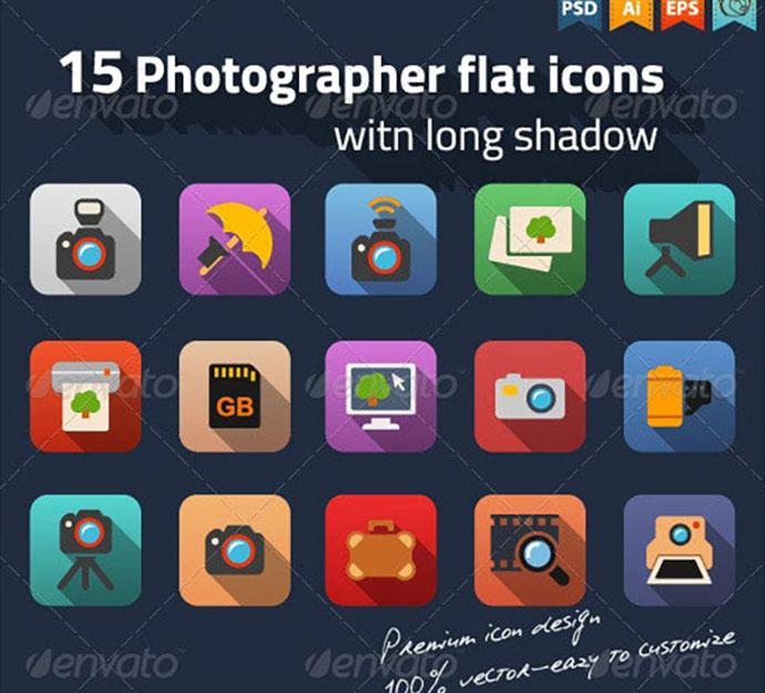 Photographer Flat Icons