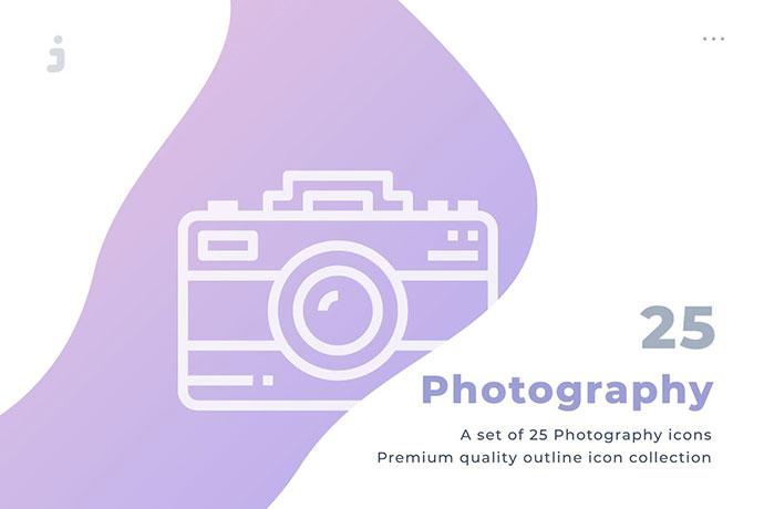 25 Photography Icon Set