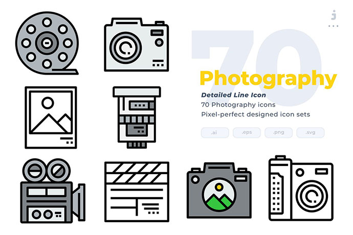 70 Photography Icons
