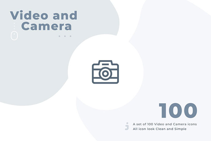100 Video And Camera Icon Set