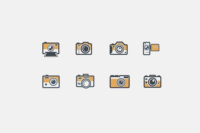 8 Retro Camera Icons