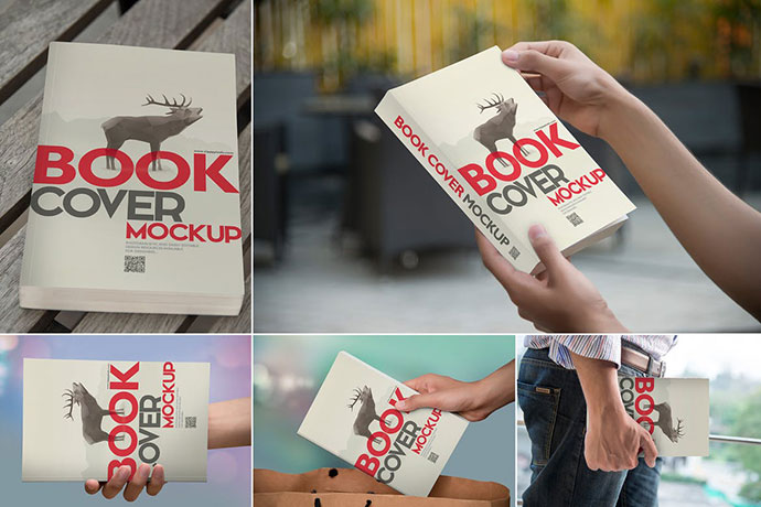 Beautiful Book Cover Mockups