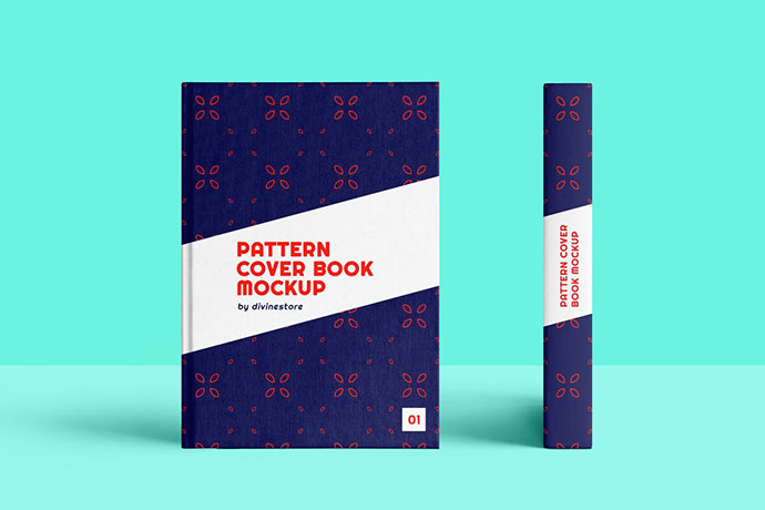 Floral Pattern Cover Book Mockup