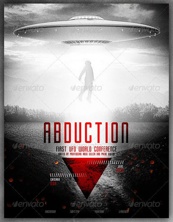 UFO - Alien Abductions Flyer Poster