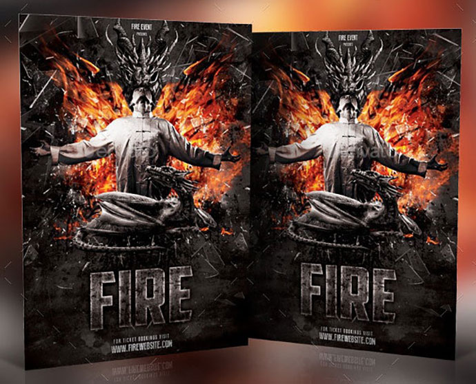 Fire Photoshop Template