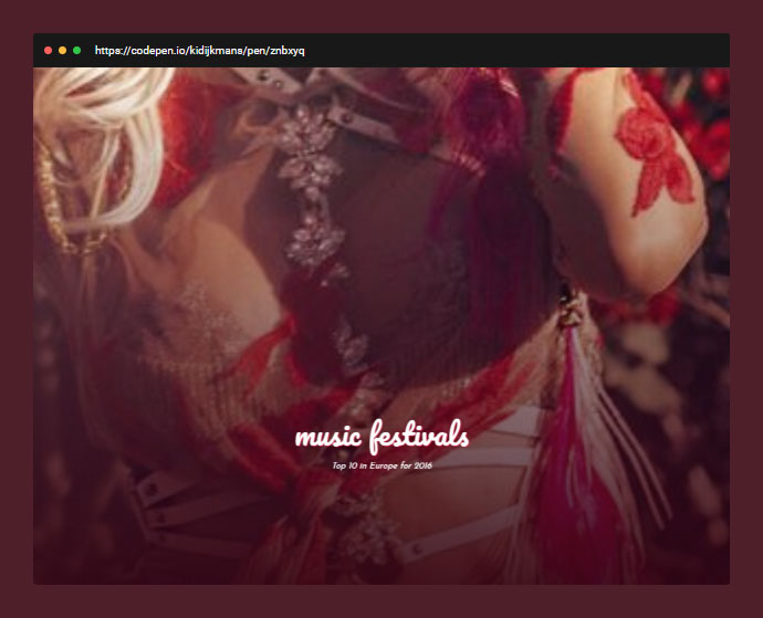 Parallax Website Using Only CSS