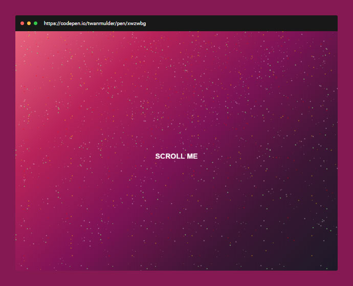 Parallax Starry Universe (CSS Only)