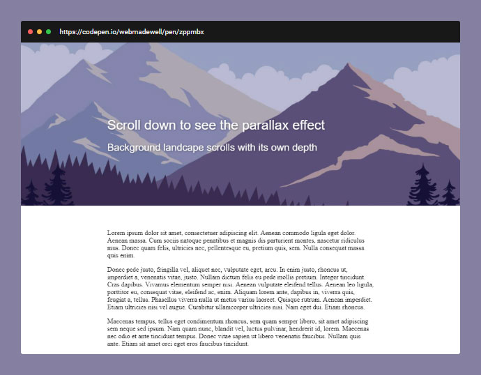 Scroll Js Codepen