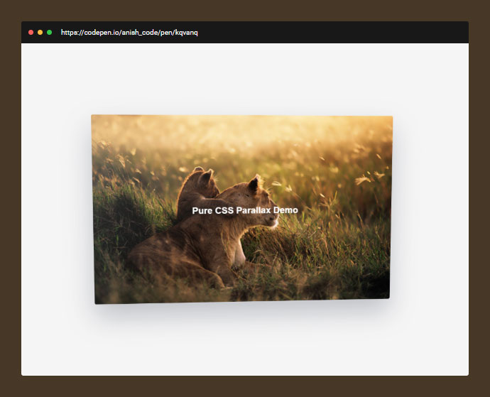 It is an experiment to create parallax effect with pure CSS3 animation.