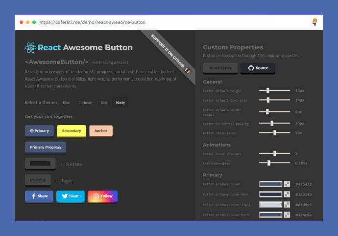 React Awesome Button