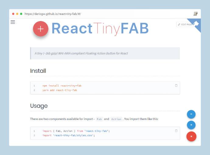 React Tiny Fab