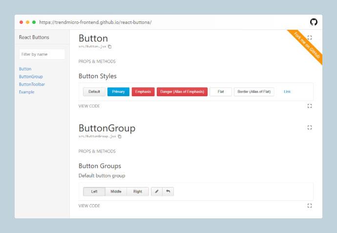 React Buttons