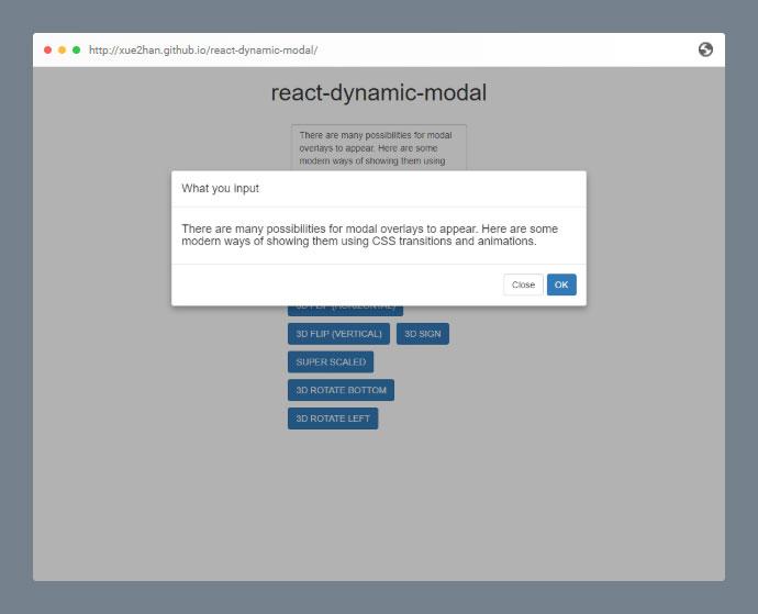 React Dynamic Modal