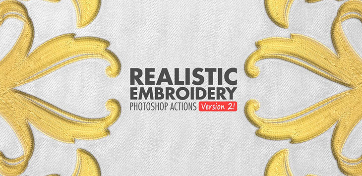 20 Cool Embroidery Effect Photoshop Actions & Brushes – Bashooka